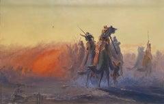 The Simoon, 19th Century Orientalist Oil