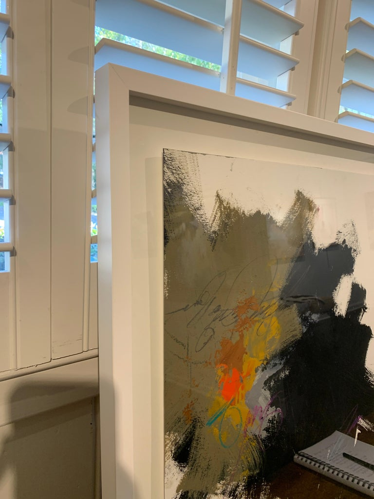 Midnight by Charles Ross, Framed Abstract Painting on Paper 2