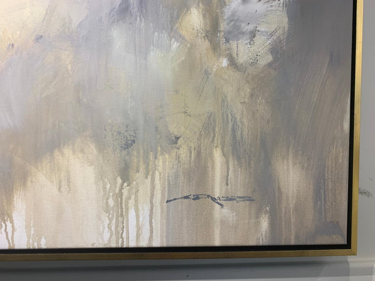 Morning by Charles Ross, Large Horizontal Mixed Media on Canvas Painting For Sale 4