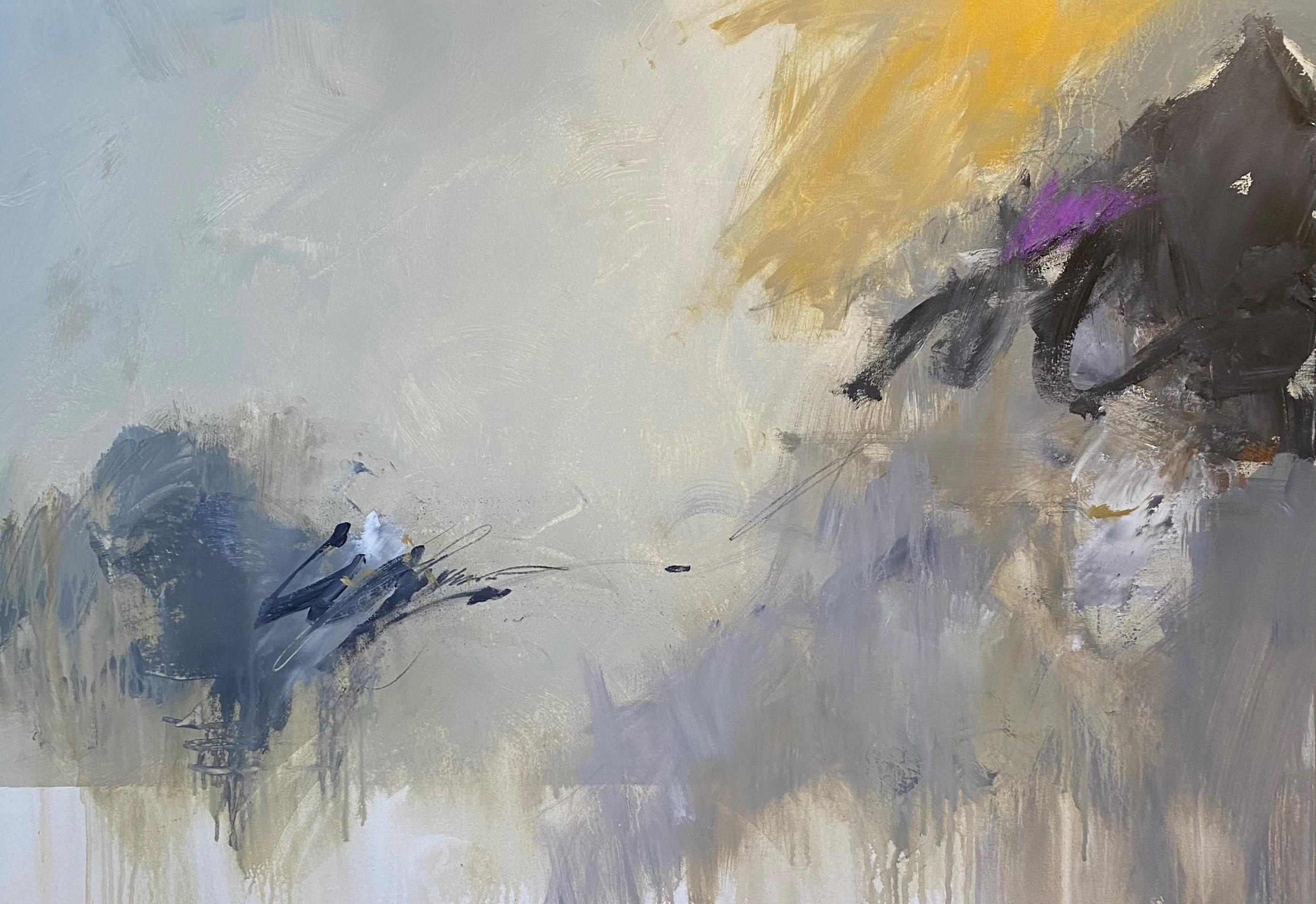 Morning by Charles Ross, Large Horizontal Mixed Media on Canvas Painting