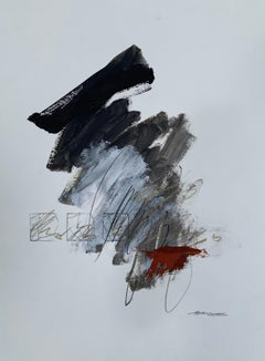 My Place or Yours? by Charles Ross, Abstract Mixed Media on Paper Painting