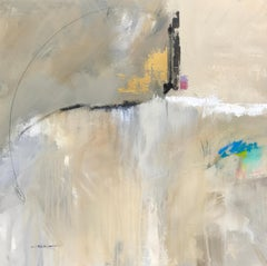 Quietude by Charles Ross, Square Abstract Oil on Canvas Painting