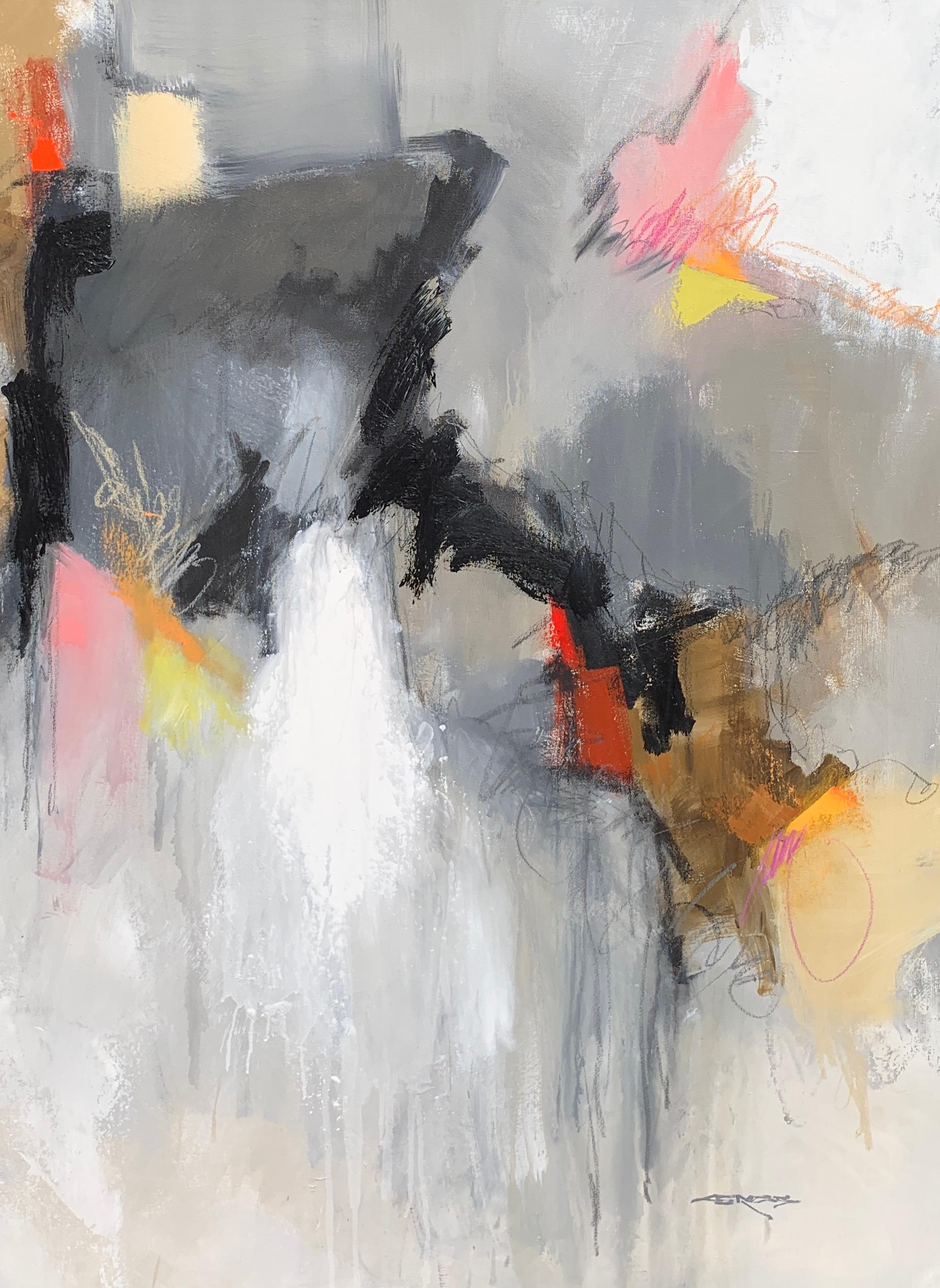 Rust and Stardust II by Charles Ross Large Abstract Oil and Mixed Media Painting