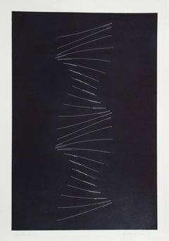 Jupiter 1950 - 1974, Minimalist Etching by Charles Ross