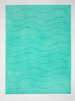 Venus 1951 - 1976 , Minimalist Etching by Charles Ross