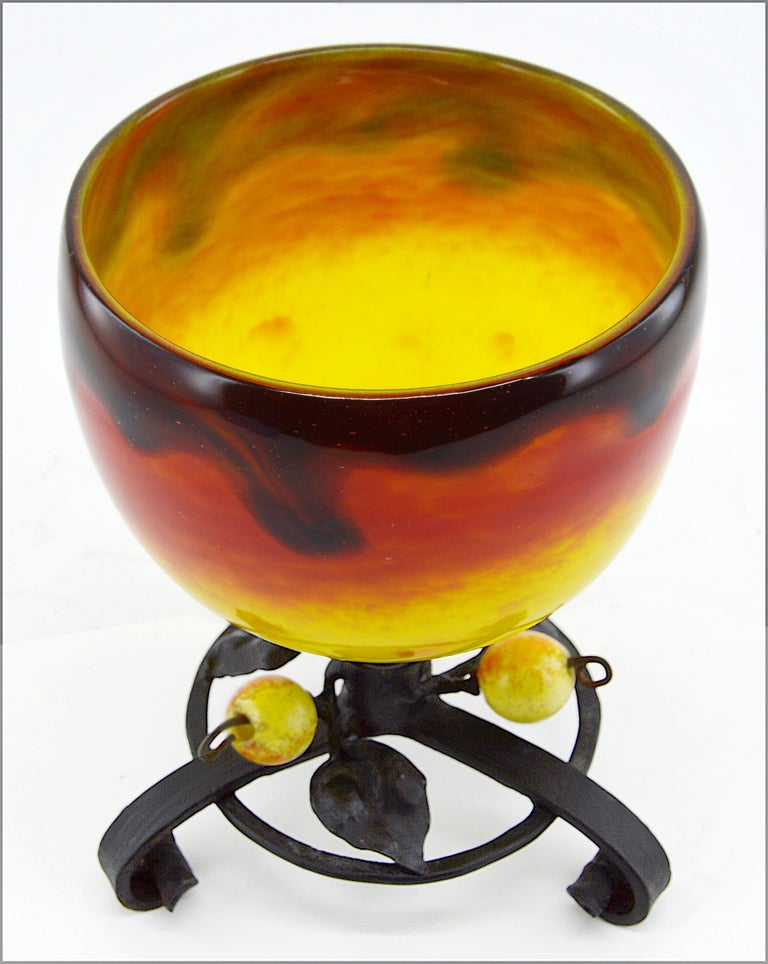 Charles Schneider French Art Deco Vase, 1914-1918 In Good Condition For Sale In Saint-Amans-des-Cots, FR