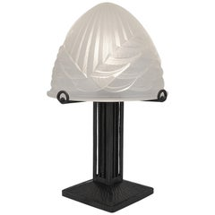 Charles Schneider Large French Art Deco Table Lamp, 1920s