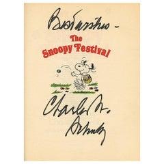 Charles Schulz 1980 Original Signed Cartoon Book