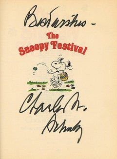 Charles Schulz Signed Cartoon Book
