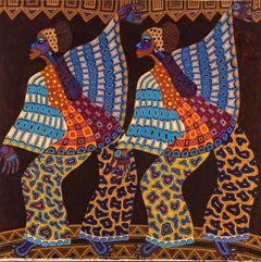 Winged Dancers: 1970s African American artist's painting inspired by Nigeria