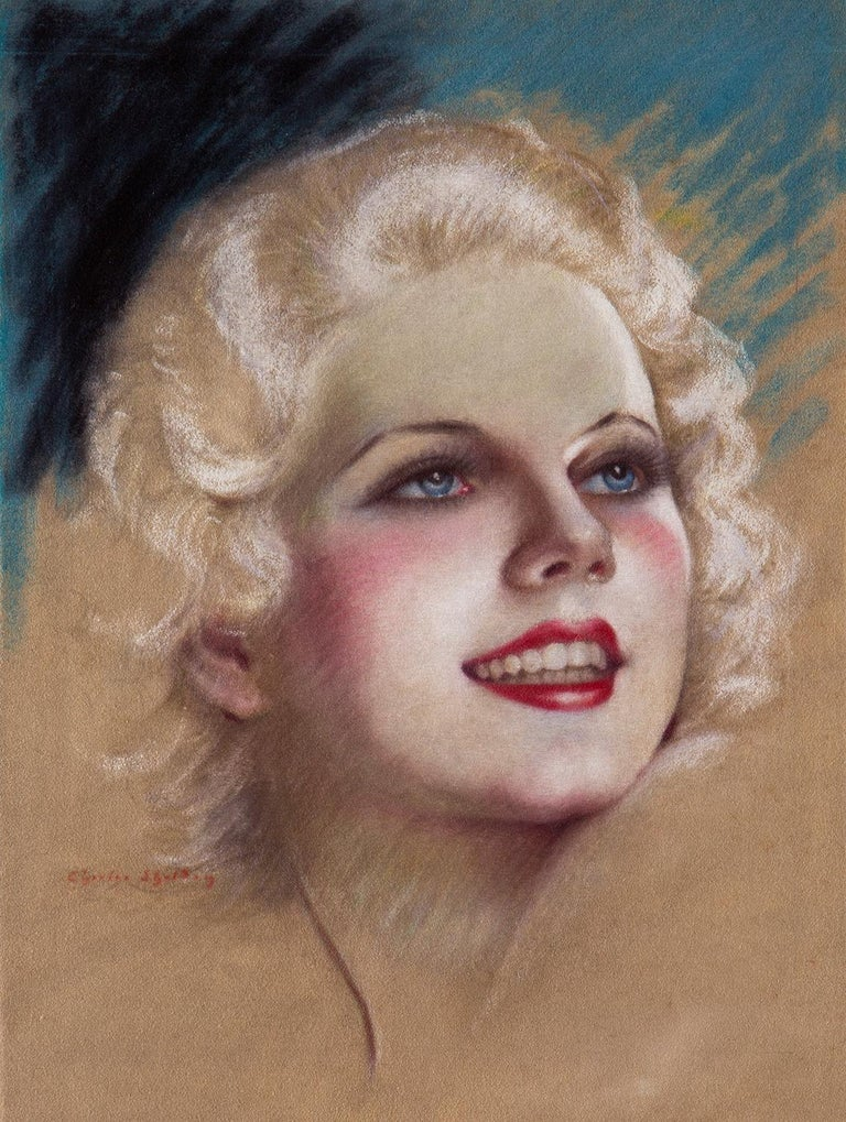 Portrait of Jean Harlow For Sale 1