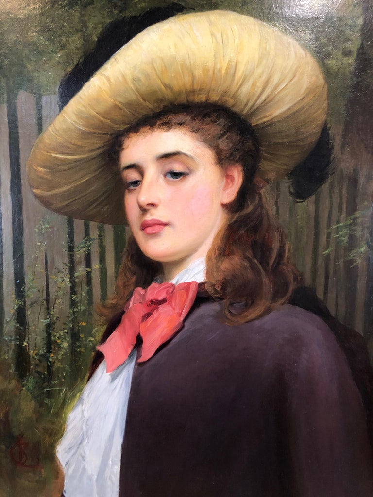 My Lady Distain - Large Portrait Oil Painting by Charles Sillem Lidderdale For Sale 2