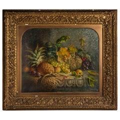 "Charles Stuart 'Fl. 1854-1868' ""Grapes, Pineapple, Plums, Apple, Jug"""