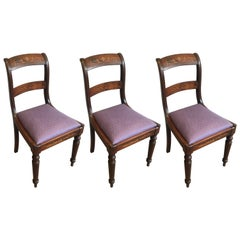 Charles the Xth Rosewood and Lemon Tree Chair Attributed to Jeanselme '3 Chairs'