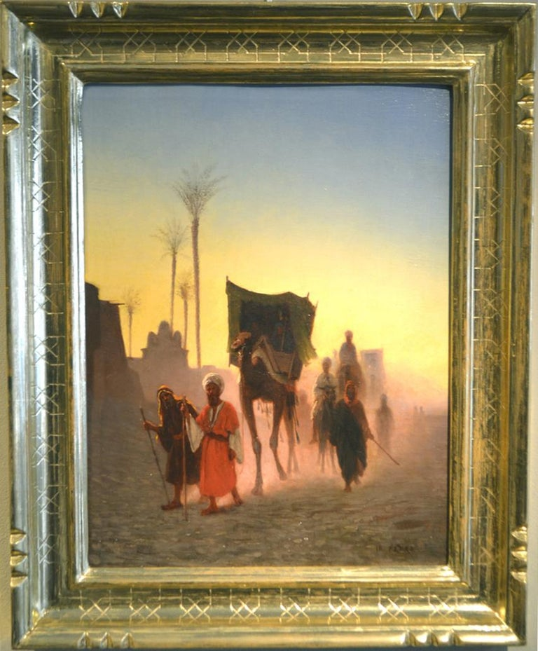 Caravan at Dusk - Painting by Charles Theodore Frere