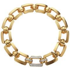 Charles Turi 18 Karat Diamond and Gold Necklace