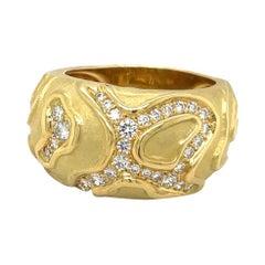 Charles Turi 18kt Yellow Gold Diamond .45ct. Berlingot Ring