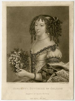 Henrietta dutchess of Orleans - Portrait of Henriette Stuart.