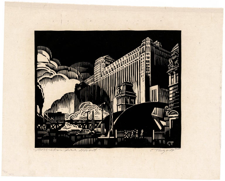 Merchandise Mart — American Modernism - Print by Charles Turzak
