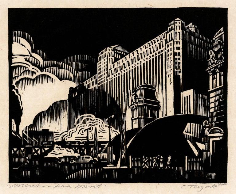 Charles Turzak Figurative Print - Merchandise Mart — American Modernism
