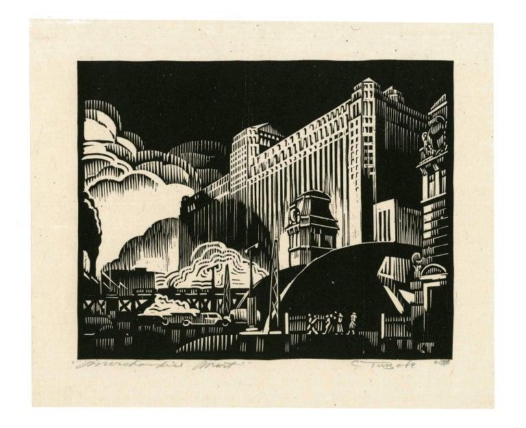 Merchandise Mart (Chicago) - American Modern Print by Charles Turzak