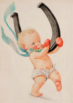 The Turkish Yataghan, Illustration of Baby, Collier's  Cover