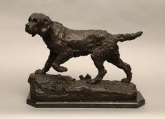 VALTON Charles. The Griffin Marco. Patinated bronze. Marble base. Signed.