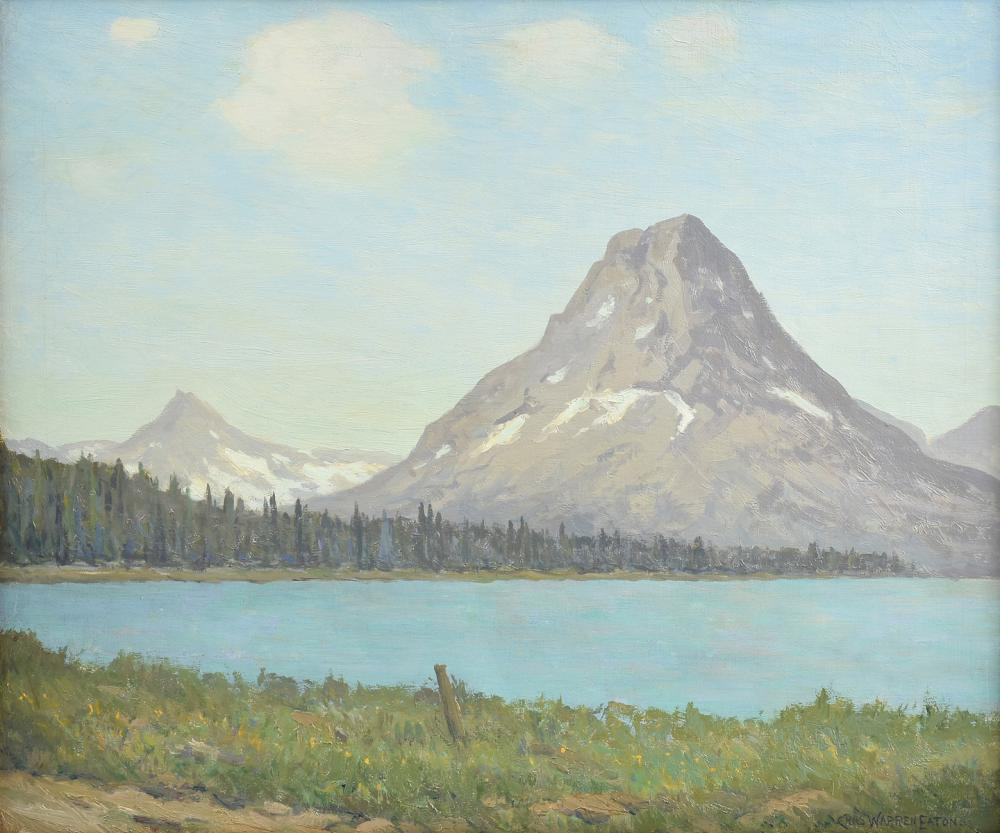 """Mount Rockwell, Glacier National Park, Montana,"" Mountain Lake Landscape View"