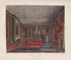 The Japan Room, Frogmore. Regency colour aquatint of Royal Residence, circa 1820