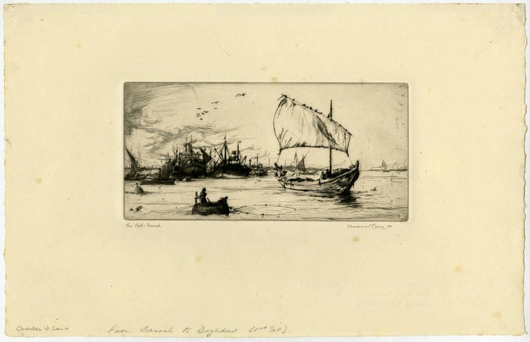 Charles William Cain Landscape Print - The port Basrah.