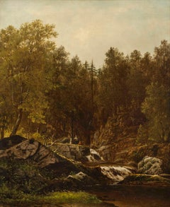 Fishermen by a Brook by Charles Wilson Knapp (1823 - 1900)