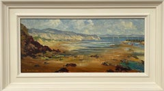 Impasto Oil Painting of Harbour Scene in Wales by 20th Century British Artist
