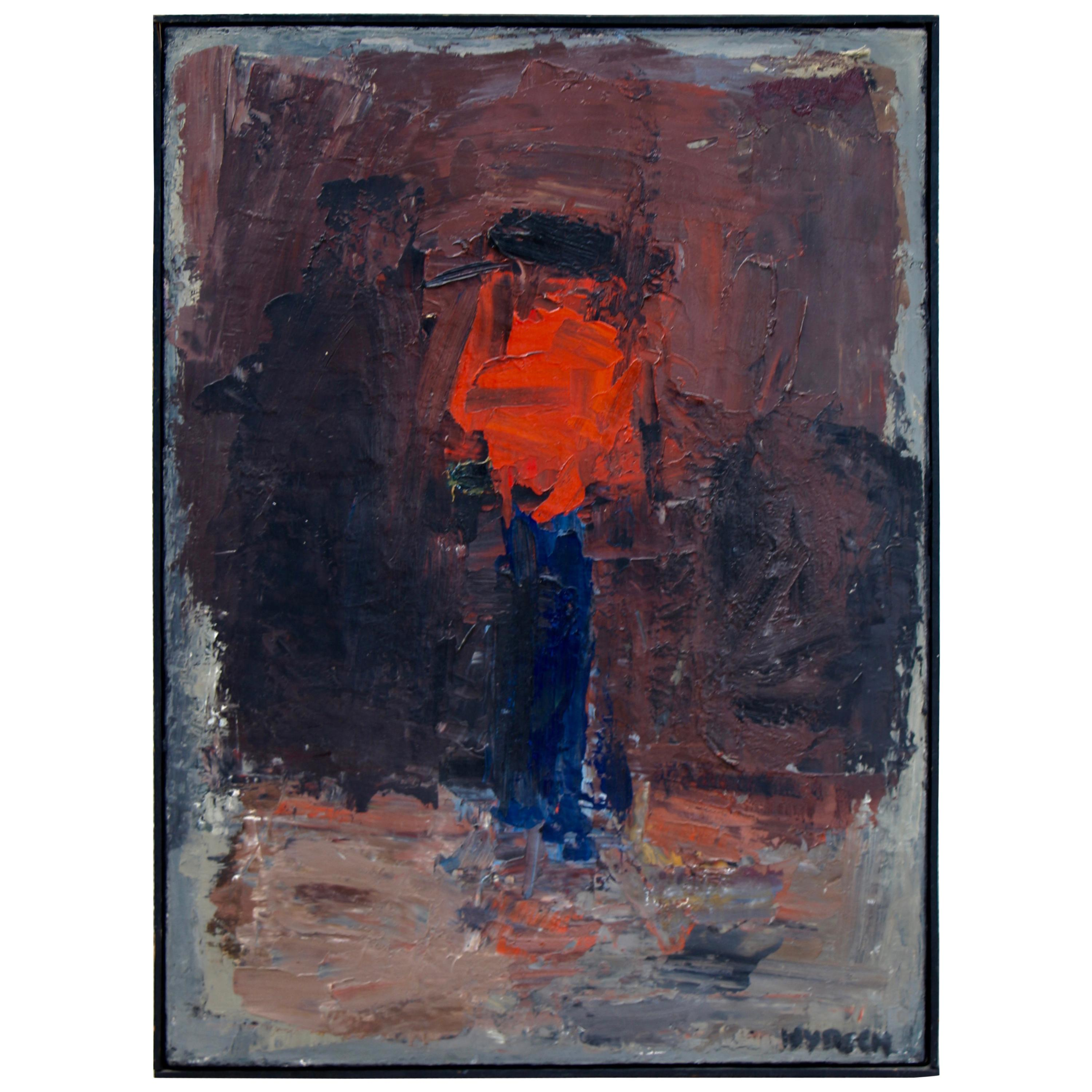 """Charles Wyrsch Noted Swiss Artist Oil Exhibited Painting Titled """"Blume"""""""