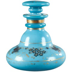 Charles X Blue Opaline Perfum Bottle