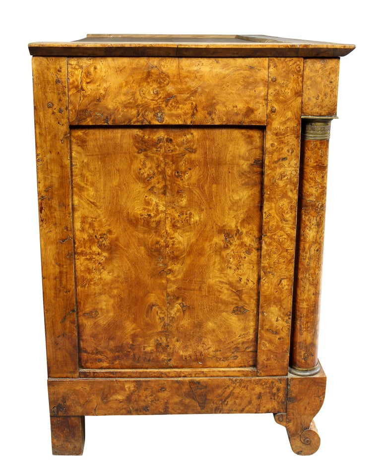 Charles X Burl Elm Commode For Sale 5