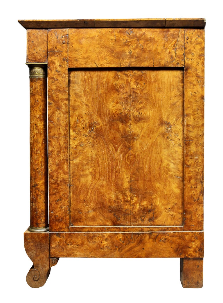 Charles X Burl Elm Commode For Sale 6