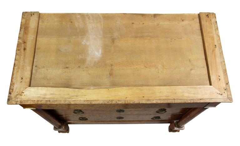 Charles X Burl Elm Commode In Good Condition For Sale In Essex, MA