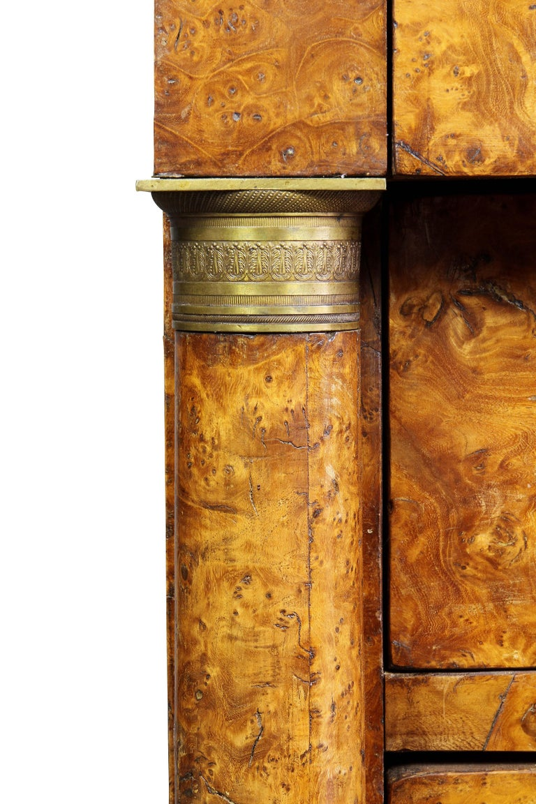 Charles X Burl Elm Commode For Sale 1