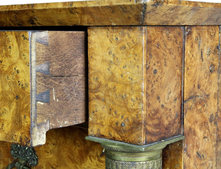 Charles X Burl Elm Commode For Sale 2