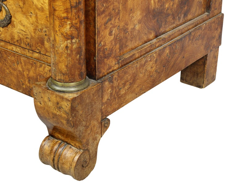 Charles X Burl Elm Commode For Sale 3