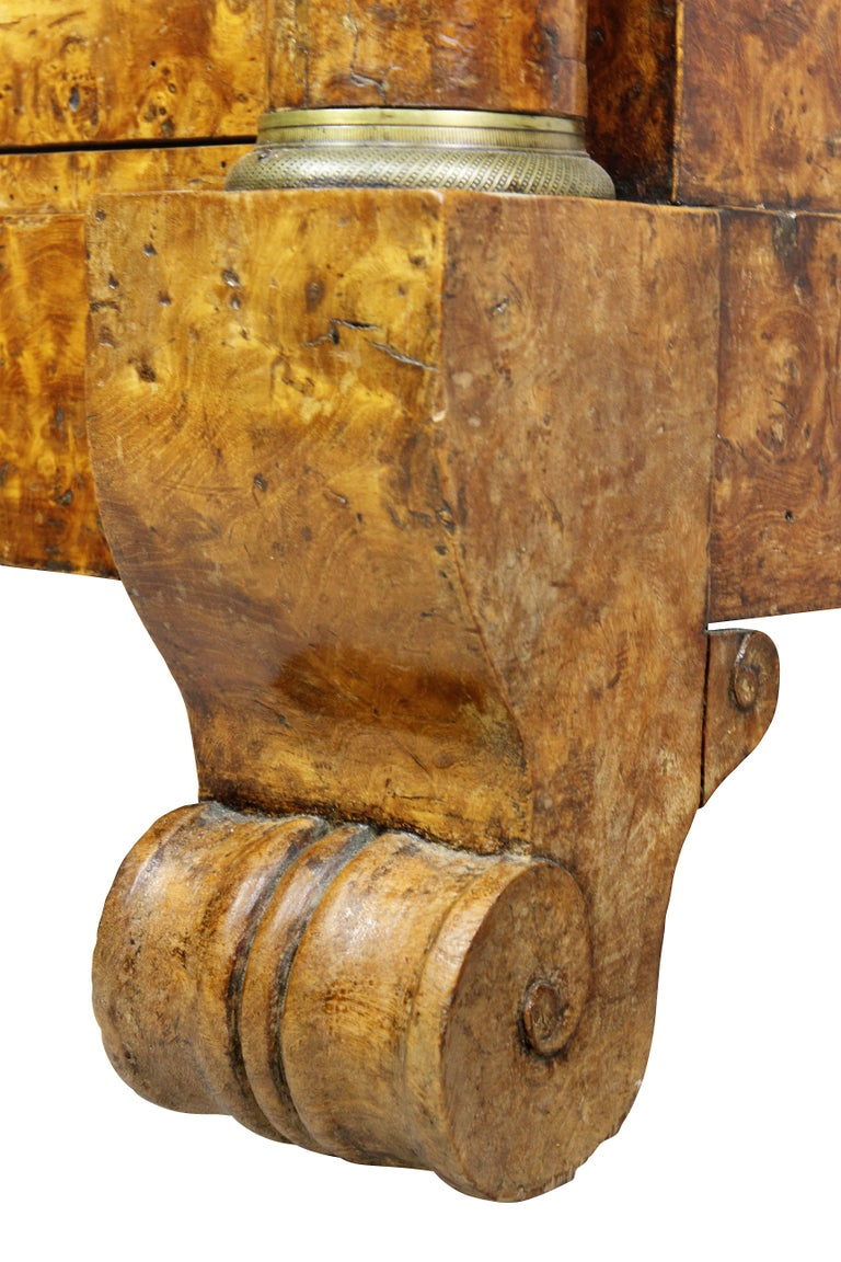 Charles X Burl Elm Commode For Sale 4