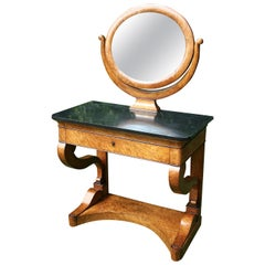 Charles X Burr Maple Dressing Table