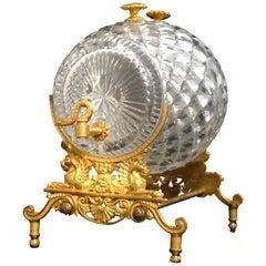 Charles X Crystal and Gilt-Bronze Spirit or Perfume Dispenser