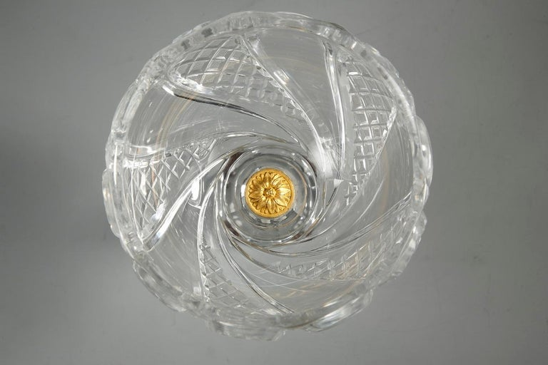 Charles X Cut-Crystal and Gilt Bronze Cup 6