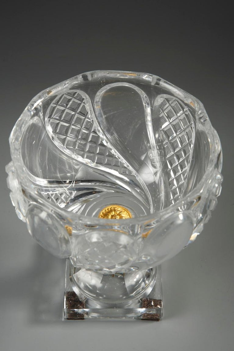 Charles X Cut-Crystal and Gilt Bronze Cup 8