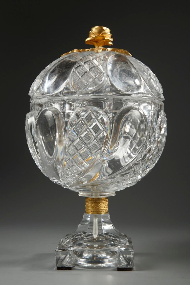 European Charles X Cut-Crystal and Gilt Bronze Cup