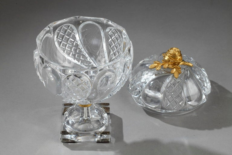 Charles X Cut-Crystal and Gilt Bronze Cup 2