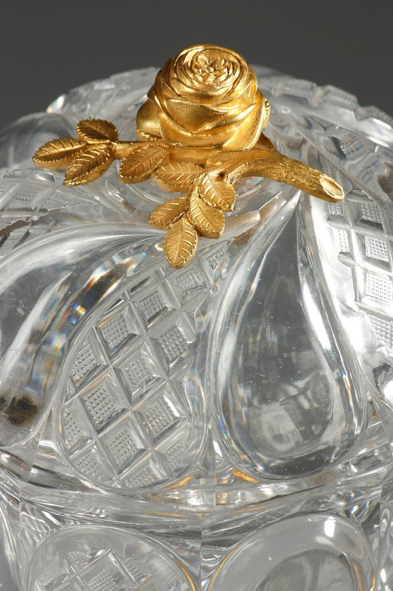 Charles X Cut-Crystal and Gilt Bronze Cup 4