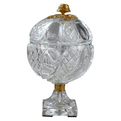 Charles X Cut-Crystal and Gilt Bronze Cup