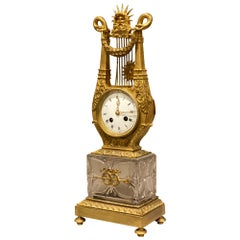 Charles X Cut Glass and Ormolu Mantle Clock